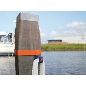 seaEQ Dalbenhaken mit  Klettband, Runddalben Ø 260-450mm. Eckig:200-350mm