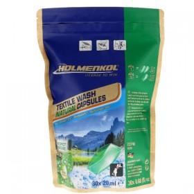 Holmenkol Textile Wash Natural Capsules - Waschmittel für Gore-Tex®, Primaloft®, Softshell, Funktionskleidung
