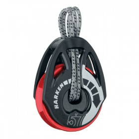 Harken 57mm Carbo T2 Ratchamatic Block - Red Sheave - Sonderedition
