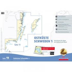 Sportbootkarten Satz 11: Ostküste Schweden 1 (Ausgabe 2020/2021)