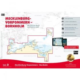 Sportbootkarten Satz 2: Mecklenburg-Vorpommern - Bornholm (Ausgabe 2019)