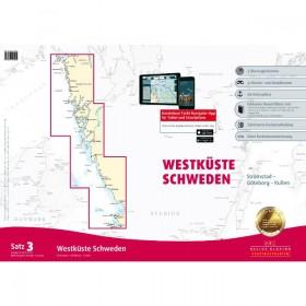 Sportbootkarten Satz 3: Westküste Schweden (berichtigt bis 01/2017
