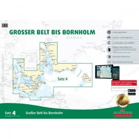 DK Sportbootkarten Satz 4: Großer Belt bis Bornholm (Ausgabe 2017)
