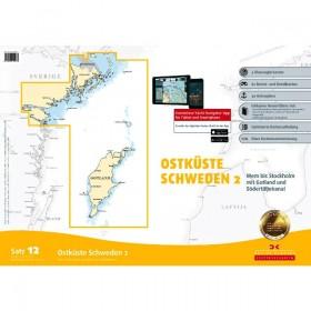 Sportbootkarten Satz 12: Ostküste Schweden 2 (Ausgabe 2018/2019)