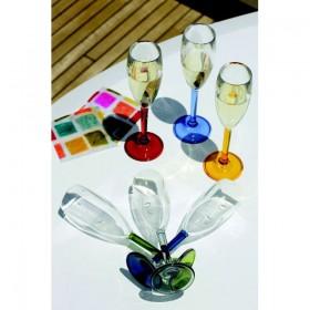 "Marine Business Sektglas Serie ""Party"", farbiger Stiel"