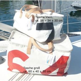 Segeltuchtasche aus Lacustre-Segeln - KTEP Hilfe zur Selbsthilfe 56 x 30 x 34 cm