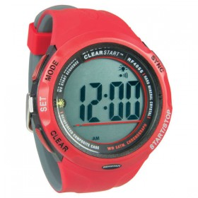Ronstan Clear Start Segeluhr, Ø 50 mm, rot/grau